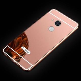 Spiegel / Mirror Alu Bumper 2teilig Pink für Sony Xperia XA2 Tasche Hülle Schutz