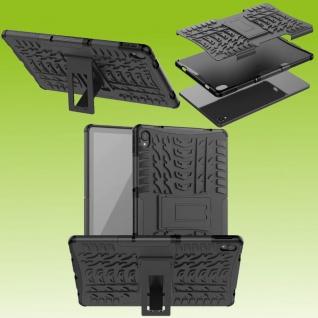 Für Lenovo Tab P11 11.0 Zoll TB-J606F Hybrid Schwarz Tablet Tasche Etui Hülle