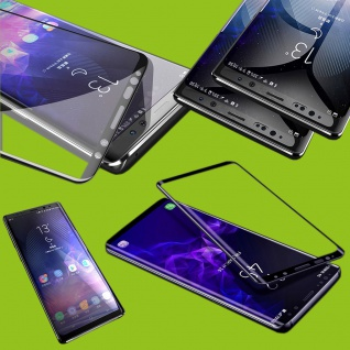 Für Samsung Galaxy A7 A750F 2x 9D Display 0, 3 mm H9 Hart Glas Schwarz Folie Neu