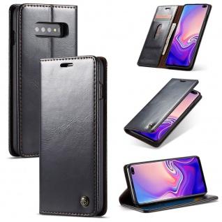 Schutzhülle Handy Tasche für Samsung Galaxy S10 Business Fächer Wallet Schwarz