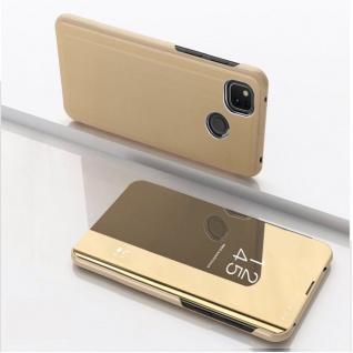 Für Google Pixel 4a View Smart Cover Gold Handy Tasche Etuis Schutz Case Wake UP
