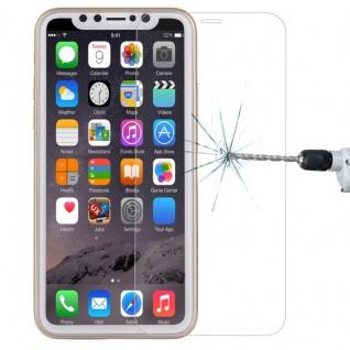 Premium 0, 3 mm H9 4D Curved Full Panzerglas Transparent für Apple iPhone X / 10