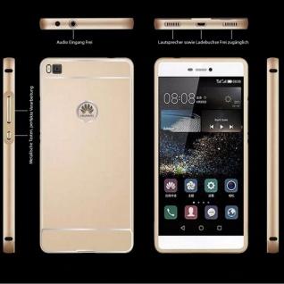 Alu Bumper 2 teilig mit Abdeckung Schwarz für Huawei Ascend P8 Tasche Hülle Neu - Vorschau 3