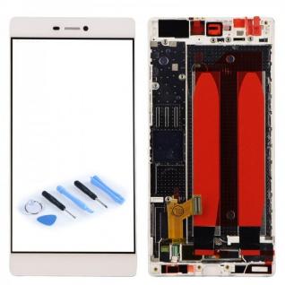 Full LCD Display mit Rahmen Komplett Einheit Weiß für Huawei P8 + Opening Tool