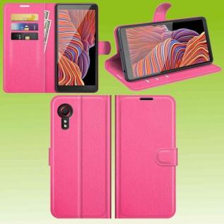 Für Samsung Galaxy Xcover 5 Smart Handy Tasche Pink Etuis Kunst-Leder Hülle Case