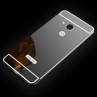 Spiegel / Mirror Alu Bumper 2teilig Schwarz für Sony Xperia XA2 Ultra Tasche Hülle Neu
