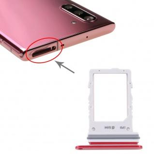 Sim Karten Halter für Samsung Galaxy Note 10 5G Rot Card Tray SD Ersatzteil