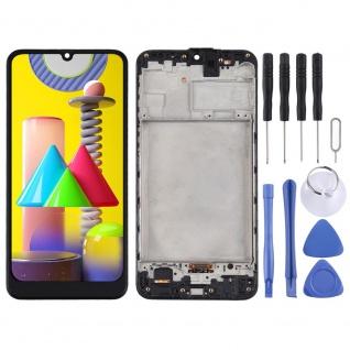Für Samsung Galaxy M31 Display Full LCD + Rahmen Touch Ersatzteil Schwarz Teil