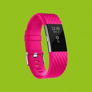 Für Fitbit Charge 2 Kunststoff / Silikon Armband für Männer / Größe L Pink Uhr