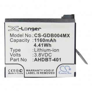 X-Longer Akku Batterie Battery für GoPro Hero 4 ersetzt 335-06532-000 Ersatzakku - Vorschau 1