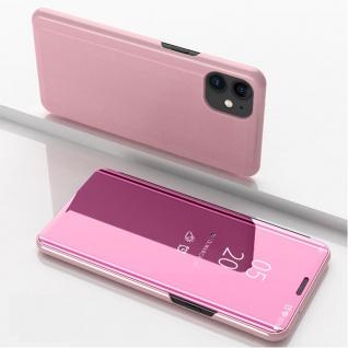 Für Apple iPhone 12 Mini View Smart Cover Hülle Pink Handy Tasche Wake UP Etuis