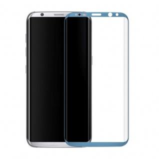0, 3 mm H9 gebogenes Panzerglas Blau Folie für Samsung Galaxy S8 G950 G950F Neu