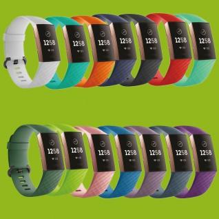 Hochwertiges Kunststoff / Silikon Uhr Armband für Fitbit Charge 3 Zubehör Neu