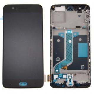 Für ONEPLUS 5 Display Full OLED LCD Reparatur Komplett Einheit Rahmen Schwarz