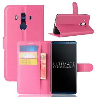 Tasche Wallet Premium Pink für Huawei Mate 10 Pro Hülle Case Cover Etui Schutz