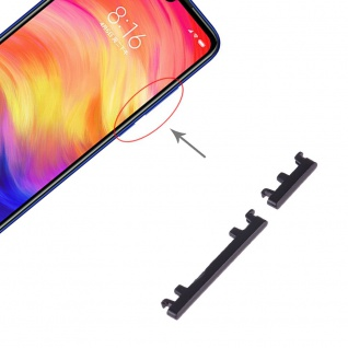 Power Volume Button Schwarz für Xiaomi Note 7 / Pro Lautstärke On Off Ersatzteil