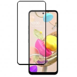 Für LG K42 3D Display Full LCD H9 Hart Glas Schwarz Folie Panzer Schutz Glas Neu