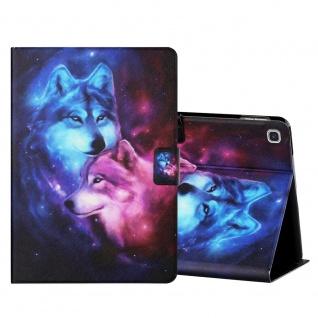 Für Samsung Galaxy Tab S6 Lite Motiv 1 Tablet Tasche Kunst Leder Hülle Etuis Neu