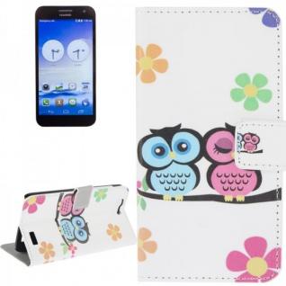 Schutzhülle Muster 43 für Huawei Ascend G7 Bookcover Tasche Case Hülle Wallet