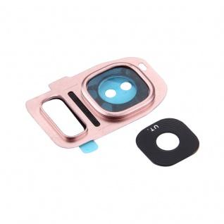 Für Samsung Galaxy S7 G930F Kamera Ring Glas Abdeckung Rahmen Cover Pink Neu