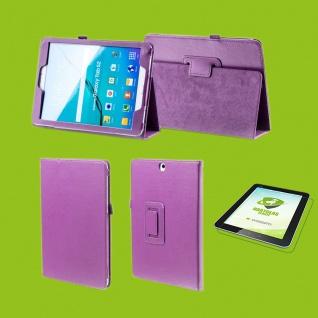 Für Samsung Galaxy Tab S5e 10.5 T720F Lila Etuis Tasche Kunst Leder + H9 Glas