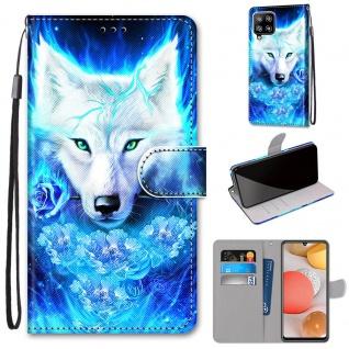 Für Samsung Galaxy A42 5G A426B Kunst-Leder Handy Tasche Motiv 7 Hülle Case Etui