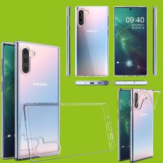 Für Samsung Galaxy Note 10 N970F Silikon TPU Transparent Tasche Hülle Etuis Neu