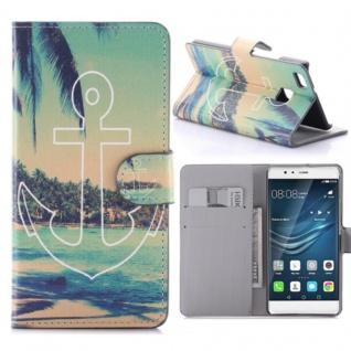 Schutzhülle Muster 62 für Huawei P9 Lite Bookcover Tasche Case Hülle Wallet Etui
