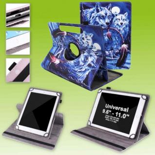 Für Lenovo Tab E10 TB-X104F 10.1 360 Grad Motiv 16 Tablet Tasche Kunst Leder Neu