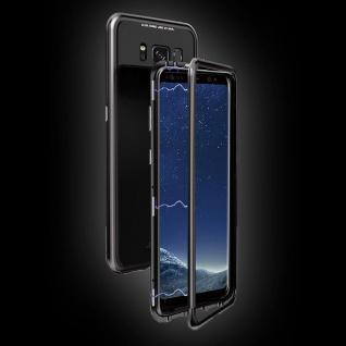 Für Huawei P Smart Plus Magnet / Metall Glas Rot / Transparent Tasche Hülle Case - Vorschau 4