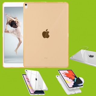 Für Apple iPad Pro 11.0 Zoll 2018 Gelb Tasche Hülle Case Cover TPU Silikon dünn
