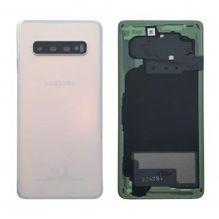 Samsung GH82-18378F Akkudeckel Deckel Ersatz für Galaxy S10 G970F Klebepad Weiß
