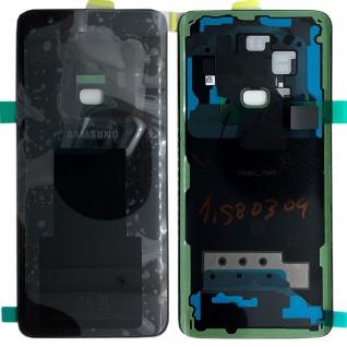 Samsung GH82-15865A Akkudeckel Deckel für Galaxy S9 G960F + Klebepad Schwarz Neu