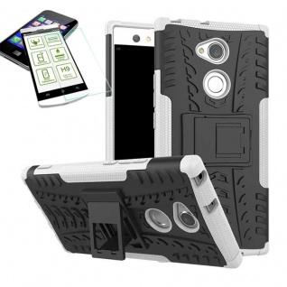 Hybrid Case 2 teilig Weiß für Sony Xperia XA2 Hülle + 0, 3 mm H9 Panzerglas Neu