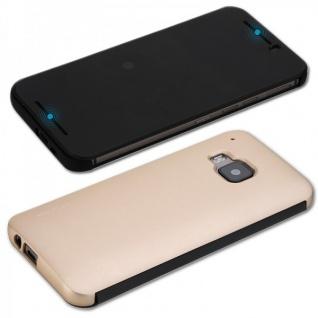 Original ROCK Smartcover Tasche Gold für HTC One 3 M9 2015 Cover 2x Folie Kappe