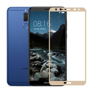 Für Huawei Y6 2018 3D LCD Display Premium 0, 3 mm H9 Schutzglas Gold Folie Neu