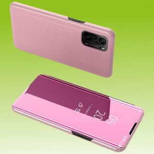 Für Xiaomi Redmi 9T / Poco M3 View Smart Cover Hülle Pink Handy Tasche Etuis Neu