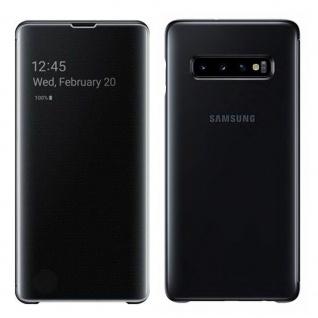 Samsung Flip Tasche Clear View EF-ZG975C für Galaxy S10 Plus G975F Cover Schwarz