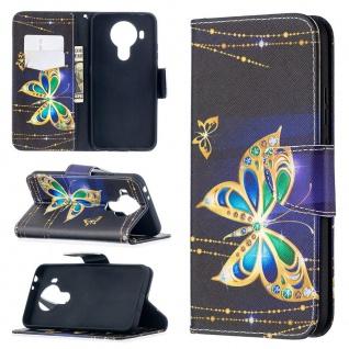 Für Nokia 5.4 Kunst-Leder Handy Tasche Motiv 6 Hülle Case Etuis Cover Schutz