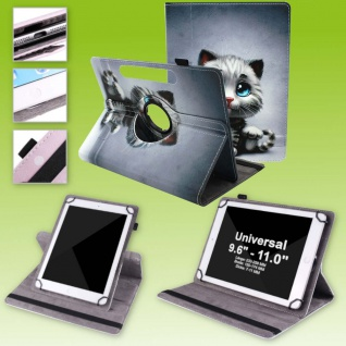 Für Huawei MediaPad M5 Lite 10.1 360 Grad Motiv 10 Tablet Tasche Kunst Leder Neu