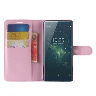 Tasche Wallet Premium Rosa für Sony Xperia XZ2 Hülle Case Cover Schutz Etui Neu - Vorschau 5