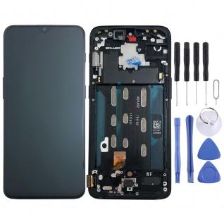 Für OnePlus 6T Display Full LCD Touch mit Rahmen Ersatz Reparatur Schwarz Neu