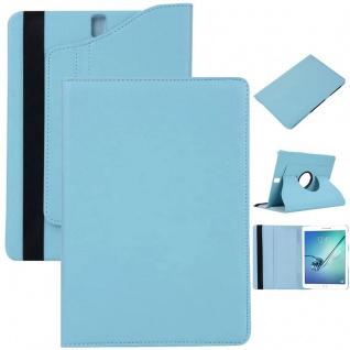 Schutzhülle 360 Grad Hellblau Tasche für Samsung Galaxy Tab S3 9.7 T820 T825 Neu