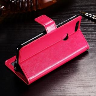 Tasche Wallet Premium Pink für Huawei Honor 9 Lite Hülle Case Cover Schutz Etui - Vorschau 3