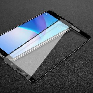 Für Huawei Y6 2018 3D Premium 0, 3 mm H9 Hart Glas Schwarz Folie Schutz Hülle