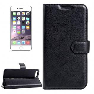 Schutzhülle Schwarz für Apple iPhone 8 Plus 7 Plus 5.5 Bookcover Tasche Case Neu
