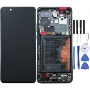 Huawei Display LCD Pack Rahmen für P40 Pro Service 02353PJG Schwarz Batterie