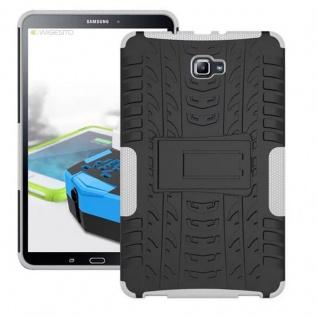 Hybrid Outdoor Schutzhülle Weiß für Samsung Galaxy Tab A 10.1 T580 T585 Tasche