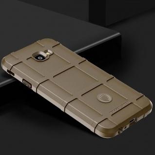 Für Samsung Galaxy J4 Plus J415F Shield Series Outdoor Braun Tasche Hülle Cover