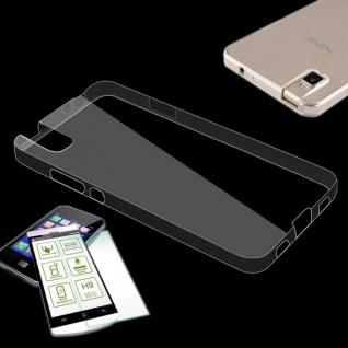 Silikoncase Transparent Tasche + 0, 3 H9 Panzerglas für Huawei Honor 7i Shotx Neu